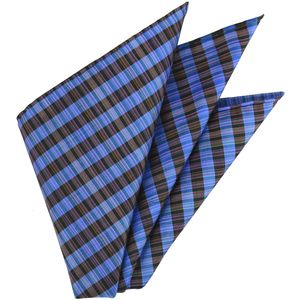 Thai Plaid Silk Pocket Square #1