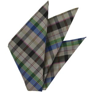 Thai Plaid Silk Pocket Square #12