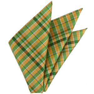 Thai Plaid Silk Pocket Square #17