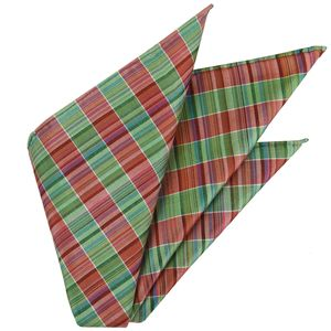 Thai Plaid Silk Pocket Square #18