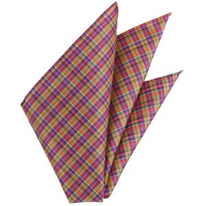 Thai Plaid Silk Pocket Square #26