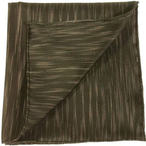 Thai Saiphone Black & White Silk Pocket Square #5