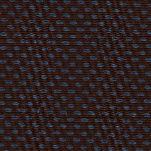 Sky Blue on Dark Chocolate Macclesfield Print Silk Tie #MCT-319
