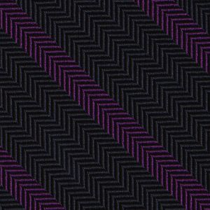 Purple on Midnight Blue Striped Silk Tie #SST-13