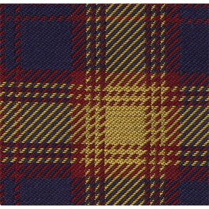 Navy Blue, Dark Red & Yellow Gold Tartan Silk Tie #TAT-18