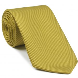 Yellow Gold Grosgrain Silk Tie #15