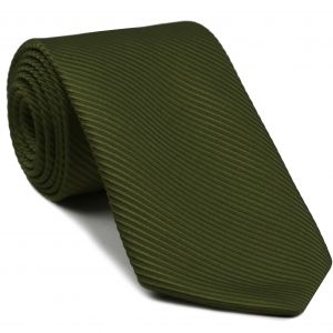 Olive Green Grosgrain Silk Tie #16