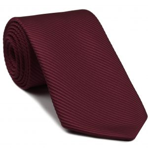 Dark Red Grosgrain Silk Tie #3