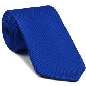 Royal Blue Grosgrain Silk Tie #5