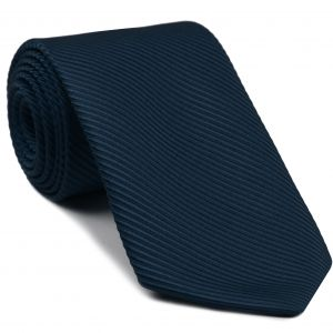 Navy Blue Grosgrain Silk Tie #6