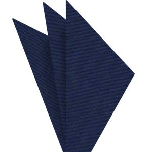 Navy Blue Linen/Cotton Silk Pocket Square #1