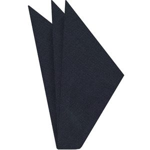 Midnight Blue Linen Pocket Square #1