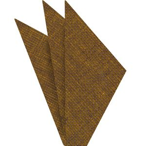 Dark Gold (Yellow Gold & Midnight Blue) Linen Pocket Square #5
