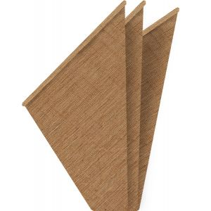 Brown Organic Cotton Pocket Square #1