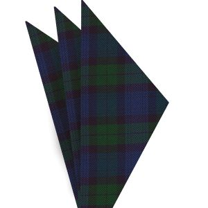 The Black Watch Tartan Silk Pocket Square #TAP-14