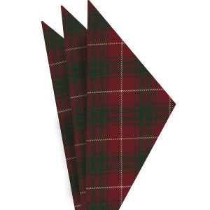 Bruce of Scotland Tartan Silk Pocket Square #TAP-4