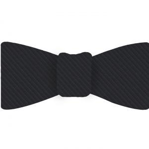 Dark Charcoal Gray Grosgrain Silk Bow Tie #GGRBT-11