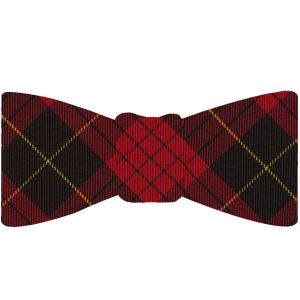 Macqueen Tartan Silk Bow Tie #TABT-12  Red, Black & Yellow