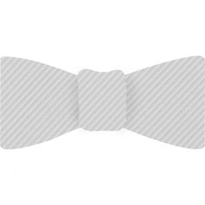 White Grosgrain Silk Bow Tie #GGRBT-13