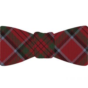 Stewart Royal Tartan Silk Bow Tie #TABT-13  Sky Blue, Black, Bottle Green & Red