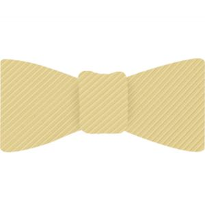Light Yellow Grosgrain Silk Bow Tie #GGRBT-14