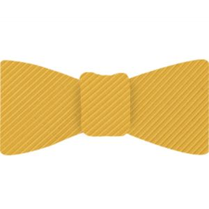 Yellow Gold Grosgrain Silk Bow Tie #GGRBT-15