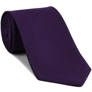 Purple Oxford Silk Tie #FFOXT-15