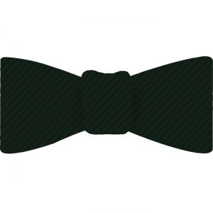 Forest Green Grosgrain Silk Bow Tie #GGRBT-17