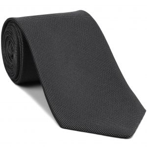 Dark Charcoal Gray Oxford Silk Tie #FFOXT-17