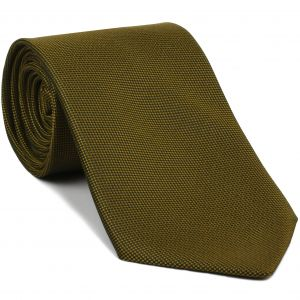 Yellow Gold Oxford Silk Tie #FFOXT-20