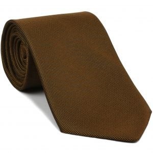 Orange Oxford Silk Tie #FFOXT-22