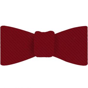 Red Grosgrain Silk Bow Tie #GGRBT-2
