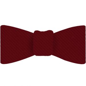 Dark Red Grosgrain Silk Bow Tie #GGRBT-3