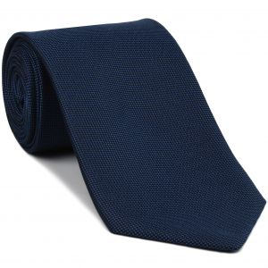 Navy Blue Oxford Silk Tie #FFOXT-3