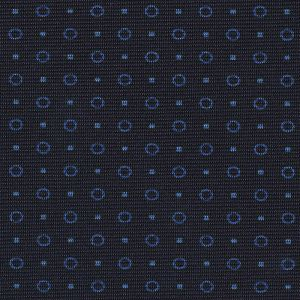 Sky Blue on Midnight Blue Macclesfield Print Silk Tie #MCT-407