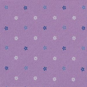 Blue, Sky Blue & White on Lavender Macclesfield Print Silk Tie #MCT-419