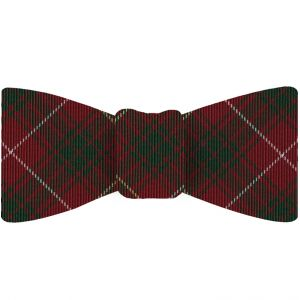 Bruce of Scotland Tartan Silk Bow Tie #TABT-4  Forest Green, White & Light Yellow on Dark Red