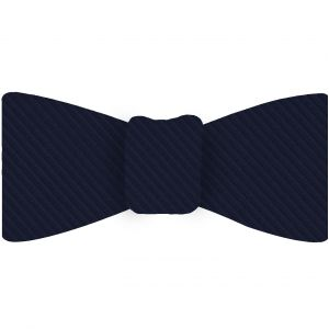 Navy Blue Grosgrain Silk Bow Tie #GGRBT-6