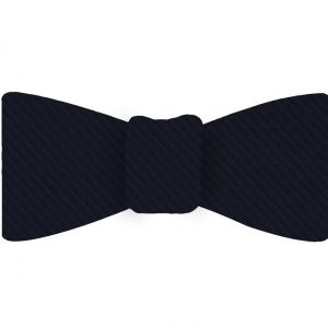 Midnight Blue Grosgrain Silk Bow Tie #GGRBT-7