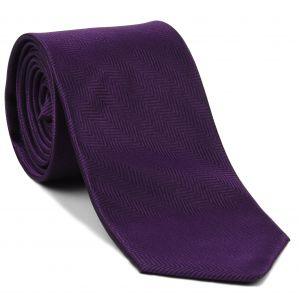 Purple Herringbone Silk Tie #HBT-3