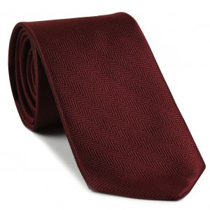 Dark Red Herringbone Silk Tie #HBT-7