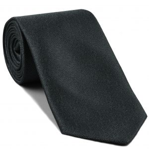 Dark Charcoal Gray Mulberrywood Weave Silk Tie #MWT-19
