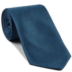 Steel Blue Mulberrywood Weave Silk Tie #MWT-3