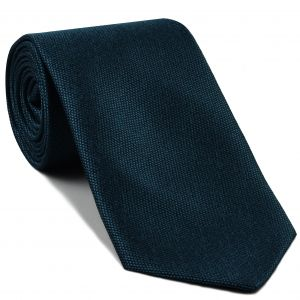 Midnight Blue Mulberrywood Weave Silk Tie #MWT-4
