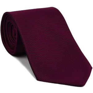 Dark Fuchsia Oxford Silk Tie #FFOXT-8
