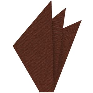 Rust Mulberrywood Weave Silk Pocket Square #MWP-10