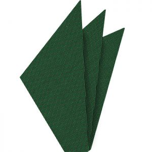 Bottle Green Oxford Silk Pocket Square #FFOXP-12