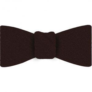 Chocolate Mulberrywood Weave Silk Bow Tie #MWBT-13