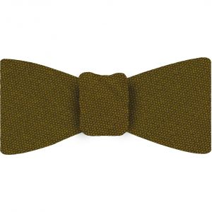 Gold Mulberrywood Weave Silk Bow Tie #MWBT-16