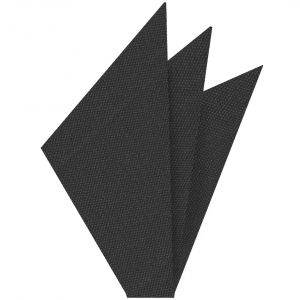 Dark Charcoal Gray Mulberrywood Weave Silk Pocket Square #MWP-19